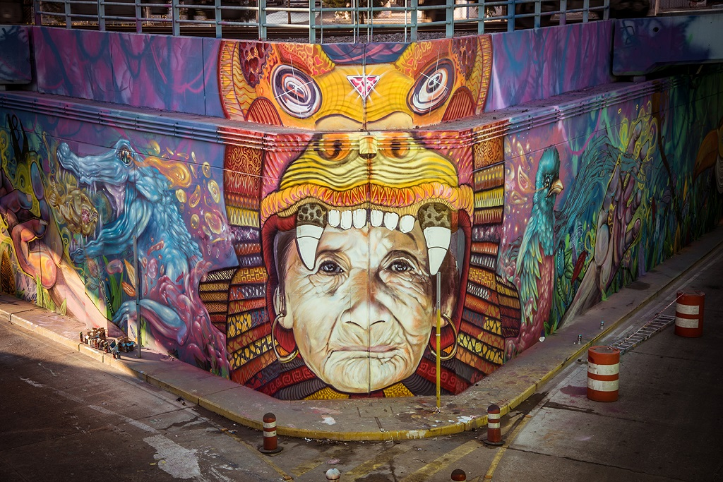 Martin Ron mural in Buenos Aires
