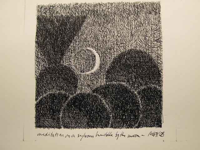 Meditation on a sylvan huddle by moonlight