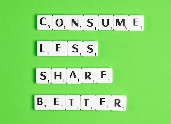 consume less share better
