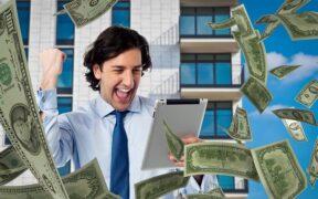Man money tablet